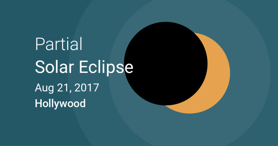 SOLAR ECLIPSE IN HOLLYWOOD ON AUGUST 21