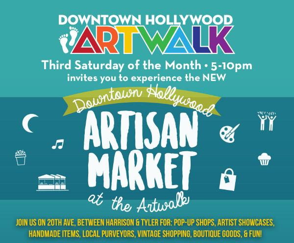 Join Us at the Downtown Hollywood ArtWalk, Saturday, December 17th