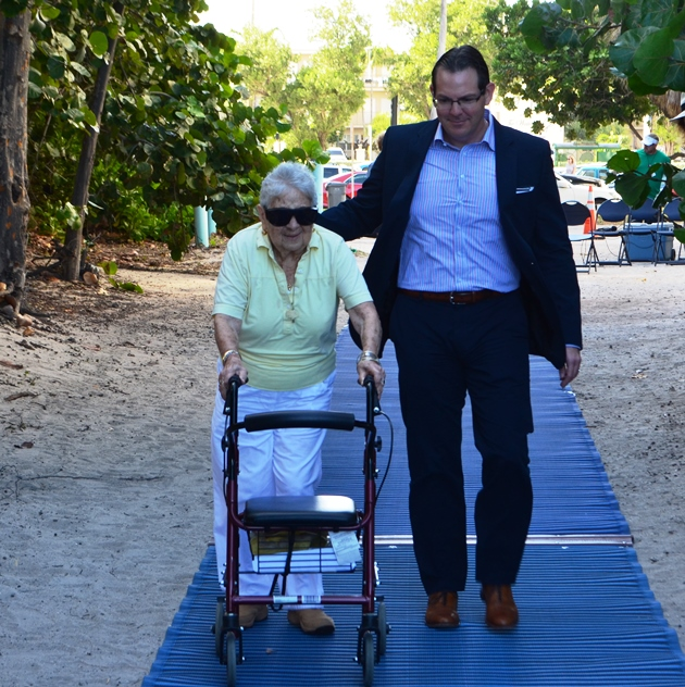 ADA Accessibility Expanded on Hollywood Beach with Installation of Four New Mobi-Mat Accessways